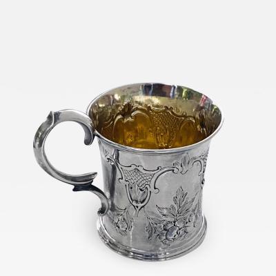 Antique Victorian Silver Mug London 1872 Edward Ker Reid