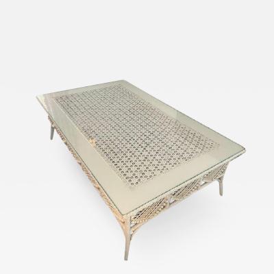 Antique Victorian Wicker Coffee Table