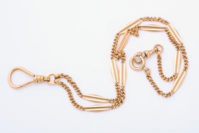 Antique Watch Fob Chain Necklace