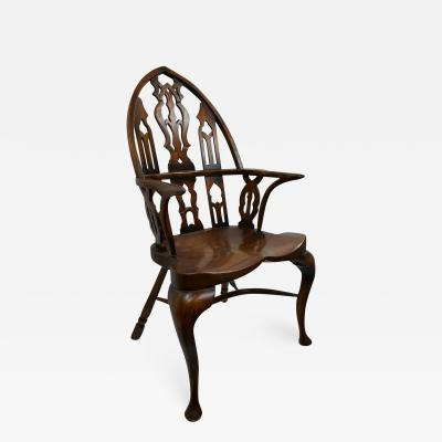 Antique Wood Armchair