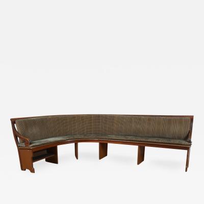 Antique Wooden Banquette Bench