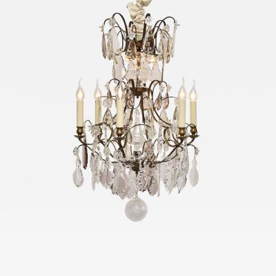 Antique crystal chandelier in the style of Rococo