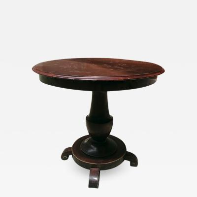 Antique wood round table 1800s