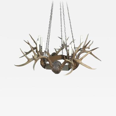 Antler and Chrome Chandelier