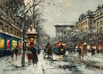 Antoine Blanchard Boulevard de la Madeleine in Winter