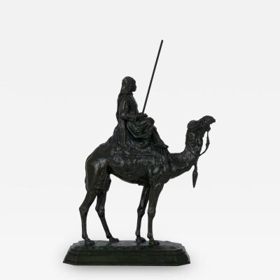 Antoine Louis Barye Arab Rider on Camel French Antique Bronze Sculpture by Barye Delafontaine