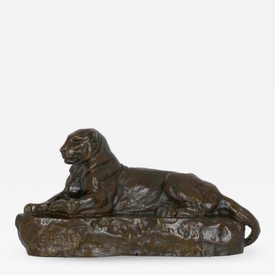 Antoine Louis Barye French Bronze Sculpture after Antoine Louis Barye Panther of India no 1