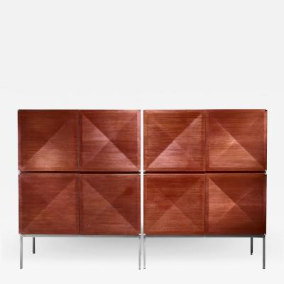 Antoine Philippon Jacqueline Lecoq Pair of sideboards highboards by Antoine Philippon and Jacqueline Lecoq