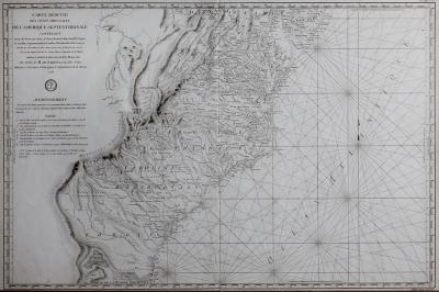 Antoine de Sartine Carte Reduite des Cotes Orientales Map of the Middle Colonies