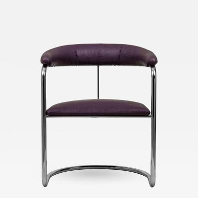 Anton Lorenz Anton Lorenz for Thonet Cantilevered Chrome Chairs