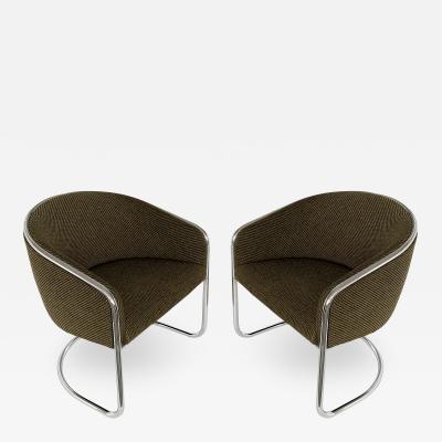 Anton Lorenz Pair of Tub Dining or Lounge Chairs by Joan Burgasser Anton Lorenz for Thonet