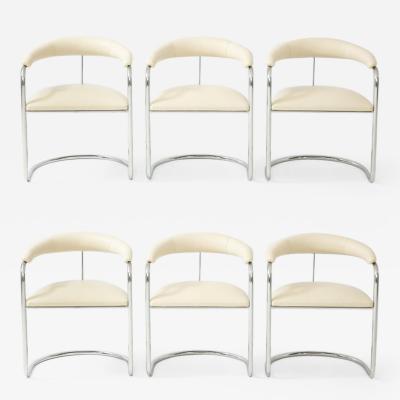 Anton Lorenz Set of Six Anton Lorenz for Thonet Chrome Chairs