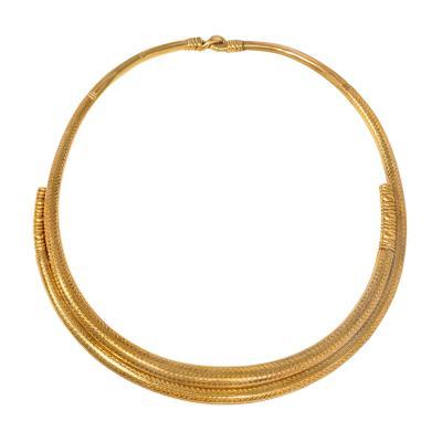 Anton Michelsen Michelsen Copenhagen Antique Gold Iron Age Style Torque Necklace