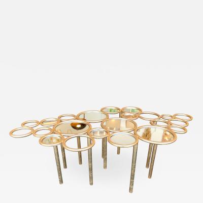Antonio Cagianelli Cloud Coffee Table Iron Gold Leaf by Antonio Cagianelli Italy 2000s