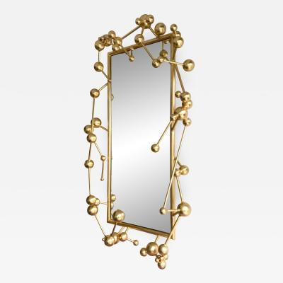 Antonio Cagianelli Contemporary Mirror Atomic Gold Leaf by Antonio Cagianelli Italy