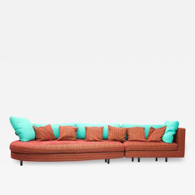 Antonio Citterio Large Red and Green Sofa Sity by Antonio Citterio B B Italia 1986