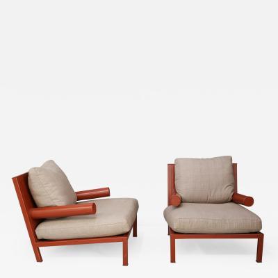 Antonio Citterio Pair of armchairs Baisity for B B Italia by Antonio Citterio 21st century