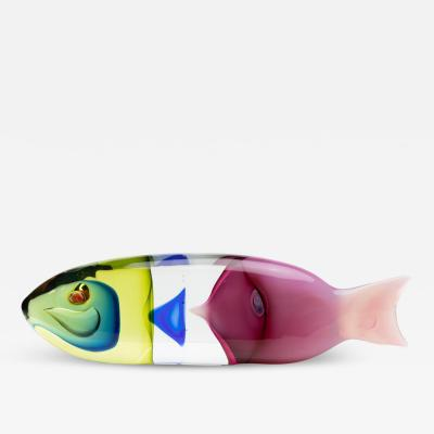 Antonio Da Ros A fish in a fish blown glass sculpture Antonio da Ros Cenedese Murano Italy