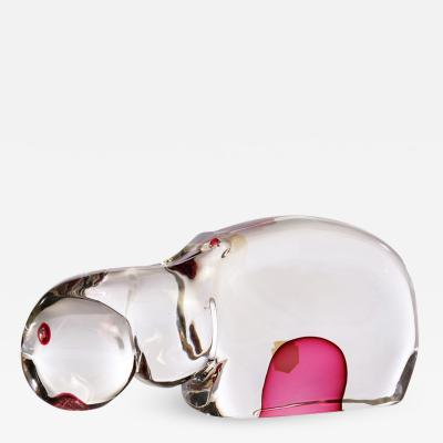 Antonio Da Ros Murano Glass Hippopotamus