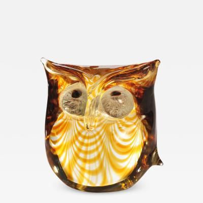 Antonio Da Ros Murano Glass Owl