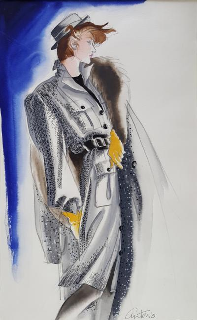 Antonio Lopez Vogue Magazine Fashion Illustration Adel Simpson 1984