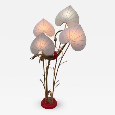 Antonio Pavia Brass Crane Floor Lamp by Antonio Pavia