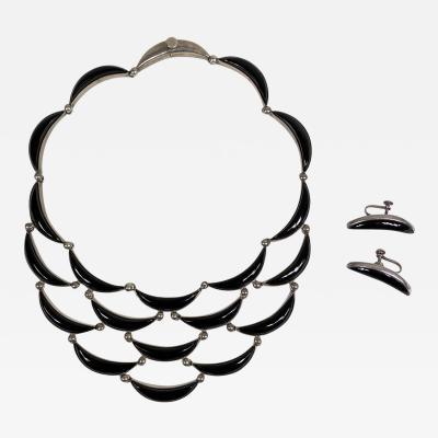 Antonio Pineda Antonio PIned necklace and earrings set cascade design