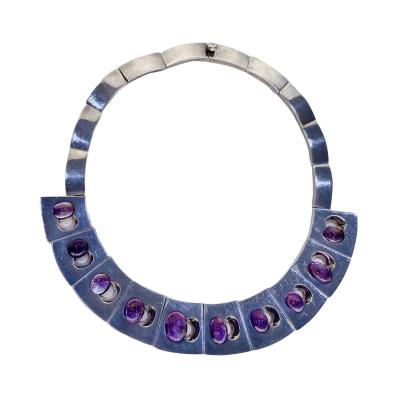 Antonio Pineda Antonio Pineda Silver and Amethyst Necklace