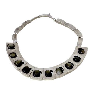 Antonio Pineda Antonio Pineda Silver and Labradorite Necklace