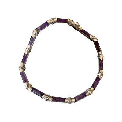 Antonio Pineda Antonio Pineda Sterling Silver and Amethyst Necklace