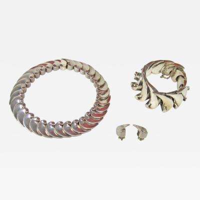 Antonio Pineda Antonio Pineda necklace bracelet earrings set wave design
