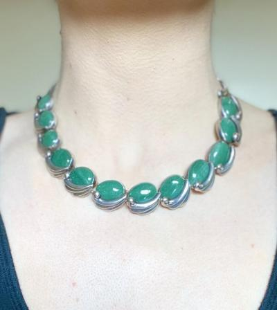 Antonio Pineda Silver Aventurine Quartz Necklace