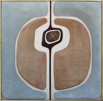 Antonio Roca Antonio Roca Textile Composition in Suede Linen Patinated Bronze Mexico 1970s