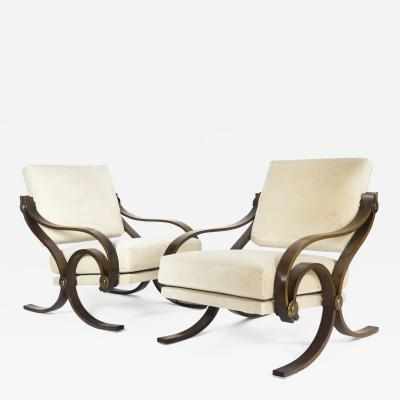 Antonio Scoccimarro Pair of rare Arcadia armchairs for Adrasteia