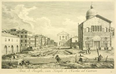Antonio Visentini View of Venice Area S Josephi cum Templo S Nicolai ad Castrum