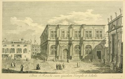 Antonio Visentini View of Venice Area S Rocchi cum ejusdem Templo et Schola plate no V