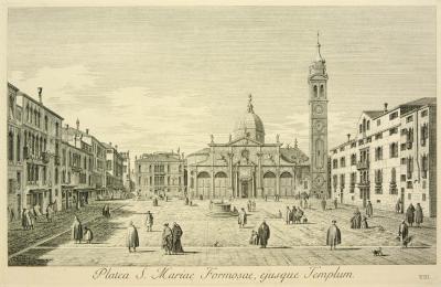 Antonio Visentini View of Venice Platea S Mariae Formosae ejusque Templum Plate no VIII