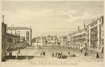 Antonio Visentini View of Venice Platea S Pauli Privatis Aedibus ornata plate no IV