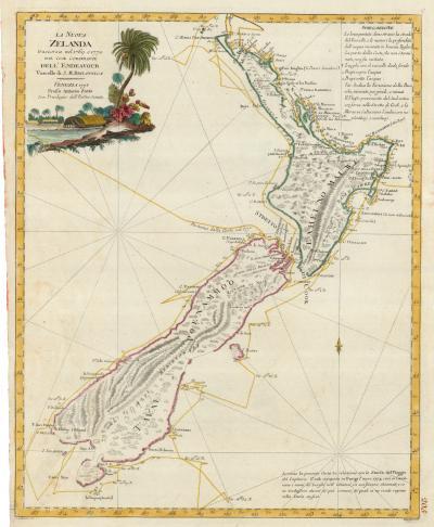 Antonio Zatta Cooks charting of New Zealand