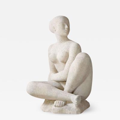 Antoniucci Volti Femme Athlete Stone Sculpture of Female Nude