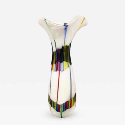 Anzolo Fuga Anzolo Fuga Large Vase with Multicolor Rods 1955