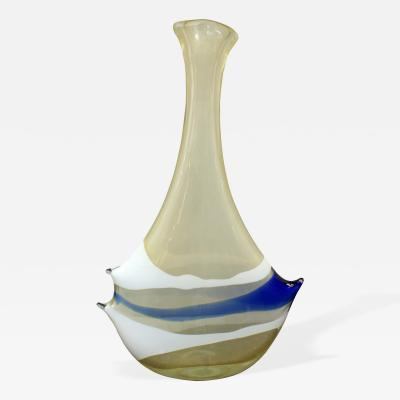 Anzolo Fuga Exceptional Hand Blown Glass Bands Vase by Anzolo Fuga for A V E M