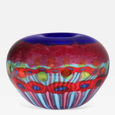 Anzolo Fuga Exceptional Hand Blown Glass Vase by Anzolo Fuga for A V E M