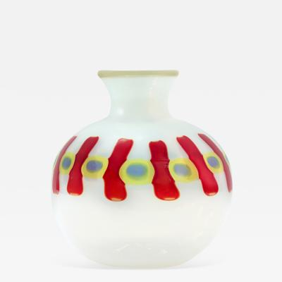 Anzolo Fuga Hand Blown Glass Murrine Incatenate Vase by Anzolo Fuga for A V E M