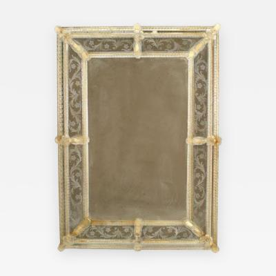 Anzolo Fuga Italian Venetian Modern Murano Wall Mirror