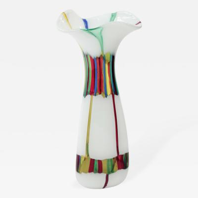 Anzolo Fuga Large Hand Blown Glass Vase by Anzolo Fuga