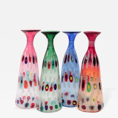 Anzolo Fuga Rare set of Hand Blown Glass Vases by Anzolo Fuga for A V E M