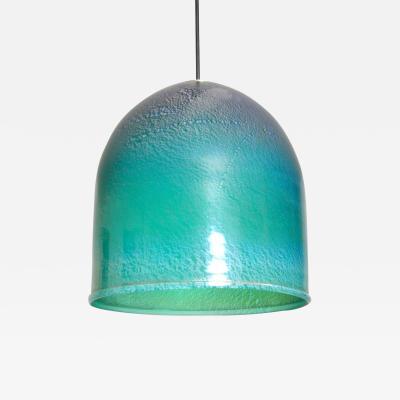 Aquamarine Glass Pendant Italy 1980s