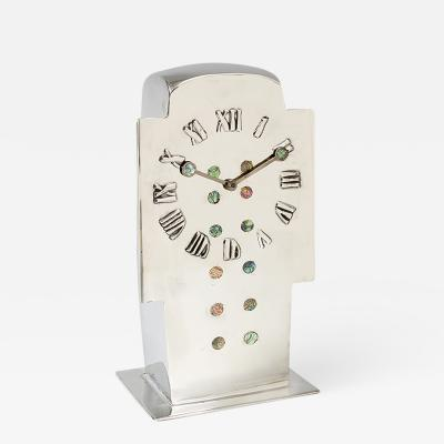 Archibald Knox English Art Nouveau Tudric Clock by Archibald Knox