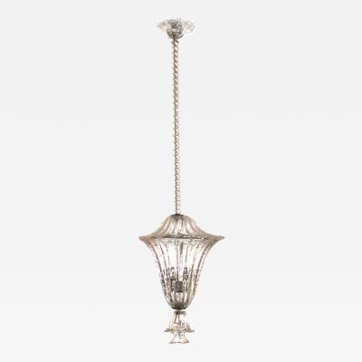 Archimede Seguso A Superb Murano Clear Glass Bullicante Lantern by Seguso